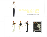 France - J.Lanvin folder - Mint souvenir sheet in folder
