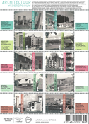 Netherlands - Architecture / Rebuilding - Mint souvenir sheet