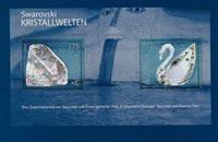Østrig - Swarovski krystaller - Postfrisk miniark