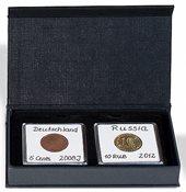 Coin box - AIRBOX - Black - 2 Quadrum capsules - flip-open lid