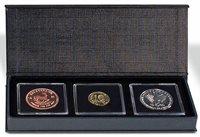 Coin box - AIRBOX - Black - 3 Quadrum capsules - flip-open lid
