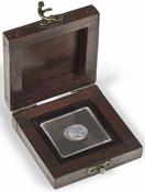 Møntetui - RUSTIKA - ægte træ - 1 Quadrum kapsel