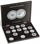 """Møntkassette - Til 20 sølv ounce """"Australian Kangaroo"""" i kapsler"""