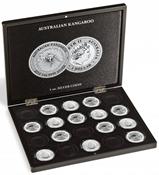 Coffret pour 20 monnaies Australian Kangaroo argent (1 oz.) en capsules