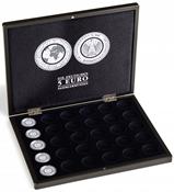 Coffret monnaies pour 30 pièces de collection allemandes de 5 euros en capsules, noir