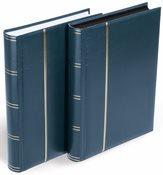 Classeur pour lettres et cartes postales - Bleu - A4 - 64 pages noires