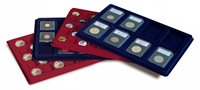 Møntbakke TAB - 12 mønter - op til 67 mm Ø - Blå
