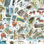 WWF Fonds Mondial - 50 timbres diff.