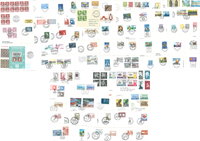 Nordic countries - 75 diff. first day covers
