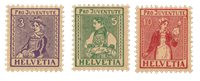 Schweiz 1917 - Michel 133/35 - Postfrisk
