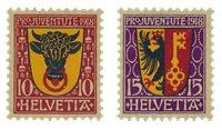Schweiz 1918 - Michel 143/44 - Postfrisk