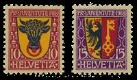 Suisse 1918 - Michel 143/44 - Neuf