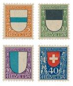 Schweiz 1922 - Michel 175-78 - Postfrisk