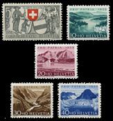 Schweiz 1952 - Michel 570/74 - Postfrisk