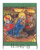 Austria - Christmas 2010 - Cancelled stamp