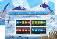 French Antarctic - Mail from the end of the world - Mint souvenir sheet