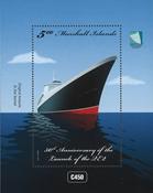 Îles Marshall - Bâteaux Reine Elizabeth II - Bloc-feuillet neuf