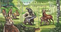 Lituanie - Animaux de la forêt - Bloc-feuillet neuf
