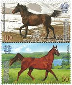 Kirghizistan - Emission commune avec la Biélorussie, chevaux - Série neuve 2v