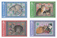 Man - Katte - Postfrisk sæt 4v