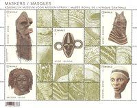 Belgique - Masques - Bloc-feuillet neuf