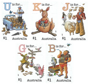 Australien - Alfabetet - Postfrisk selvkl. sæt 5v