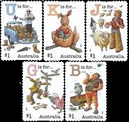 Australie - Alphabète - Série neuve adh. 5v