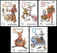 Australien - Alfabetet - Postfrisk sæt 5v