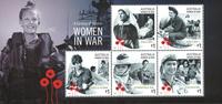 Australia - Women in war - Mint souvenir sheet