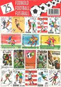 25 forskellige fodbold frimærker
