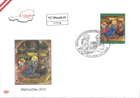 Austria - Christmas 2010 FDC - First Day Cover