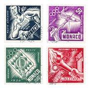 Monaco - 1953 - Yvert A51/54, oblitéré