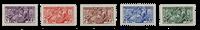 Monaco - 1955 - Yvert 415/419, neuf avec charnière