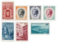 Monaco - 1959 - Yvert 503/509, neuf avec charnière