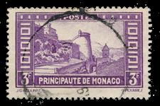 Monaco - 1933/1937 - Yvert 130, oblitéré