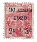 Monaco 1920 - YT 34 - Ubrugt