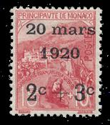 Monaco - 1920 - Yvert 34, neuf avec charnière