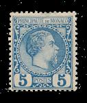 Monaco - 1885 - Yvert 3, neuf avec charnière