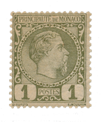 Monaco - 1885 - Yvert 1, neuf avec charnière