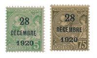 Monaco 1921 - YT 48-49 - Ubrugt