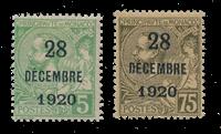 Monaco - 1921 - Yvert 48/49, neuf avec charnière