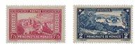 Monaco - 1933/1937 - Yvert 128A/129, neuf avec charnière