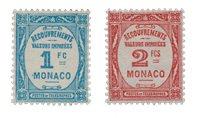 Monaco - YT T27/28 - Neuf avec charnières