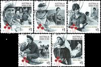 Australien - Kvinder i krig - Stemplet sæt 5v