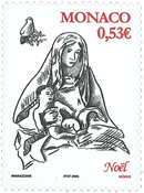 Monaco - Jul 2005 - Postfrisk frimærke