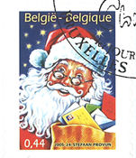 Belgium - Santa Claus from booklet - Cancelled