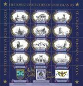 Islas Vírgenes de Estados Unidos 1989 - Pliego Navidad
