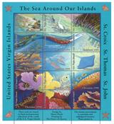 Islas Vírgenes de Estados Unidos 1990 - Pliego Navidad