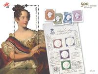 Portugal - The post 500 years - Mint souvenir sheet