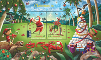 Christmas Islands - Christmas 2017 - Mint souvenir sheet